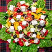 Homemade Greek salad easy and tasty